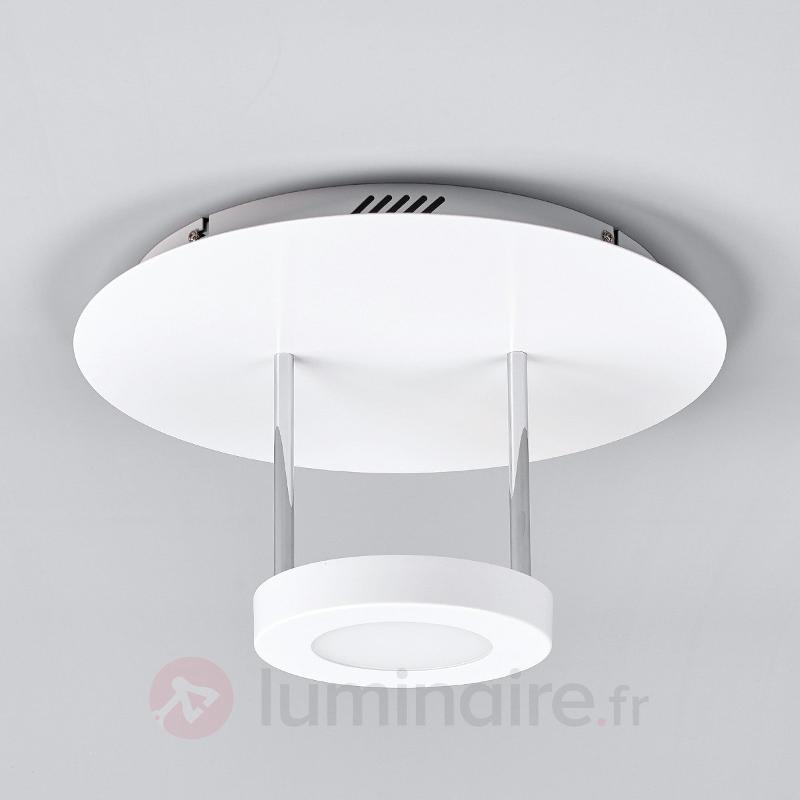 Plafonnier LED rond Augusta en blanc - Plafonniers LED