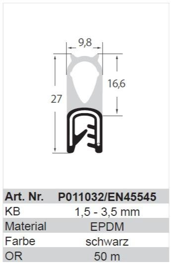profil d'étanchéité - profil d'étanchéité EN45545