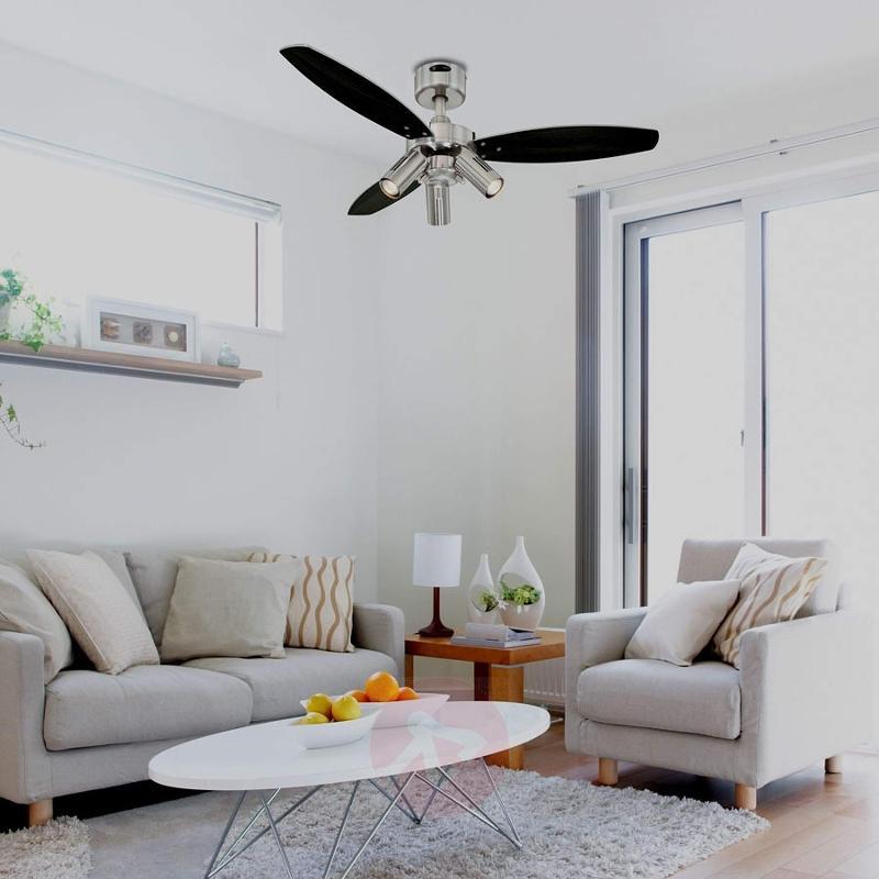 Jet Plus ceiling fan, remote control, three bulbs - fans