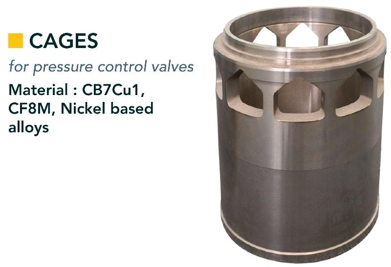 Cage & seat - Valves - components for process valves