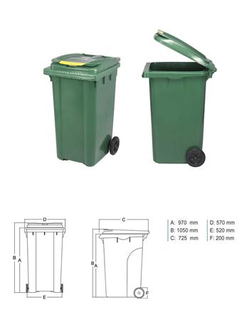 Plastic Waste Container - PRR 240