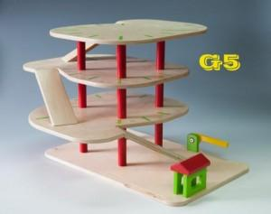 Wooden garage G5 - Wooden Toy