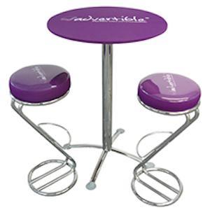 Table mange debout de salon - Table mange debout pour personnaliser votre communication à tout instant !