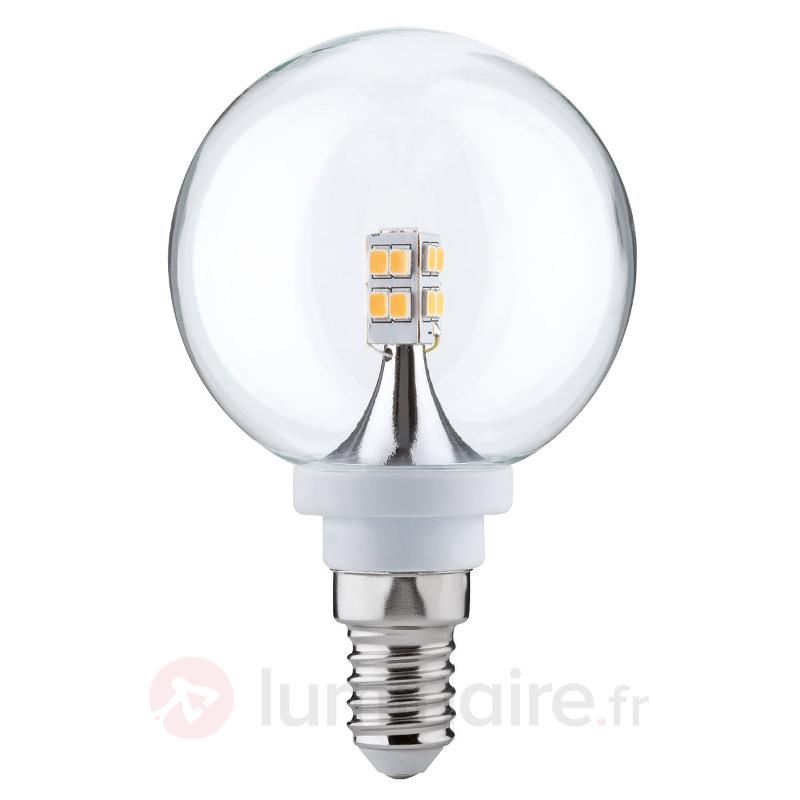 Ampoule LED globe E14 2,5 W 827 60 transparente - Ampoules LED E14