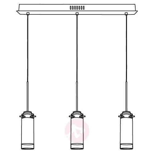 Three-bulb Aggius LED hanging light - Pendant Lighting
