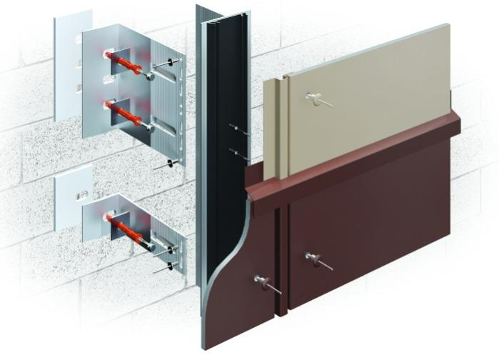 ALT-FASAD А/FB - With an air gap for cladding with flat fiber cement and asbestos-cement panels