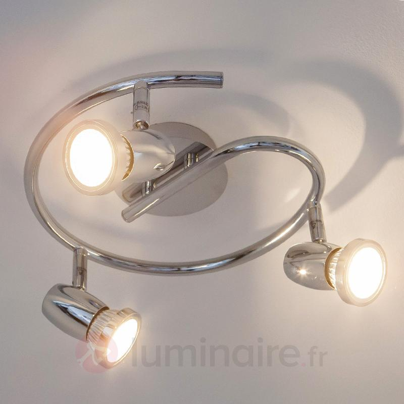 Plafonnier rond Arminius avec ampoules LED GU10 - Plafonniers LED