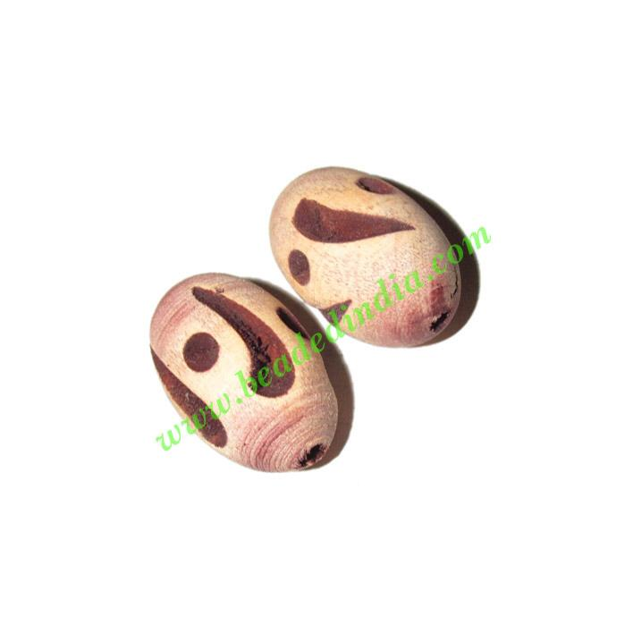 Wooden Carved Beads, size 15x25mm, weight approx 1.73 grams - Wooden Carved Beads, size 15x25mm, weight approx 1.73 grams