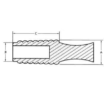 N23C-Bouchons coniques striés en silicone - Haute Température