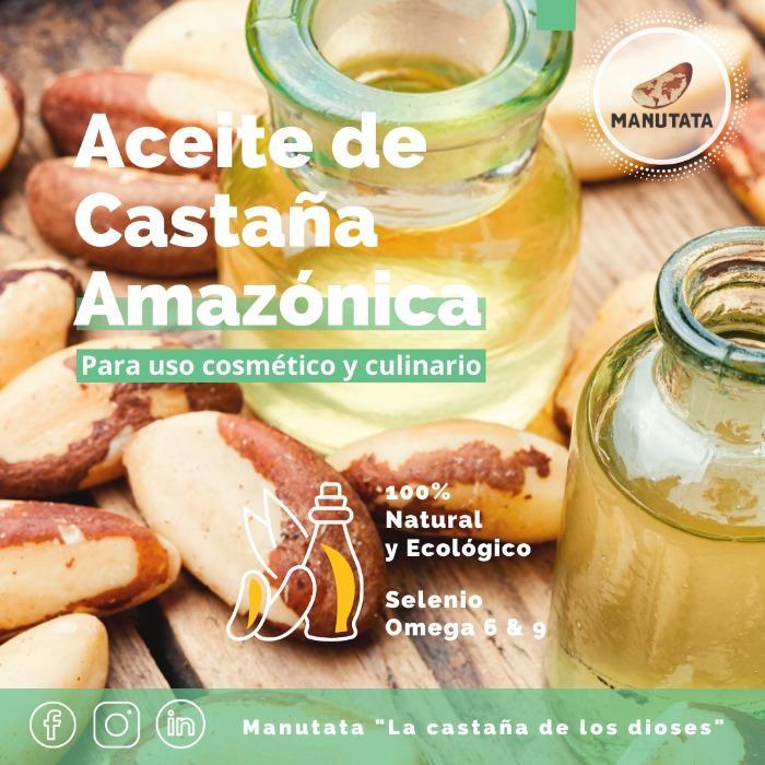 Aceite de castaña amazónica - Extra virgen, 100% natural
