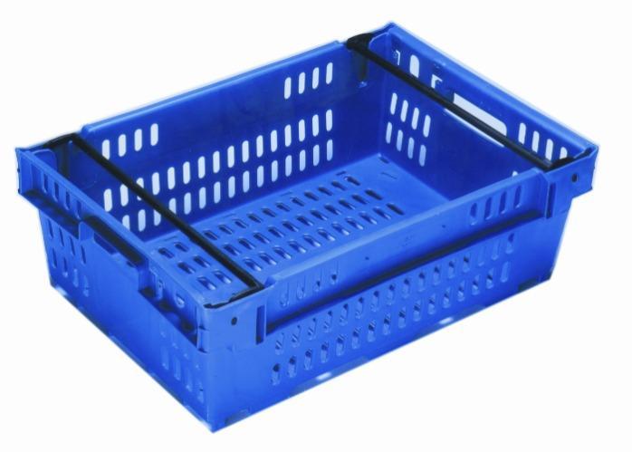 Contenitore in plastica inserible e sovrapponibile  - sovrapponible su archi posizionabili, 35L (chiuso  e /o forate)