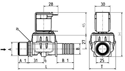 Electrovanne servo-commandée NF, DN 17 - 01.017.126