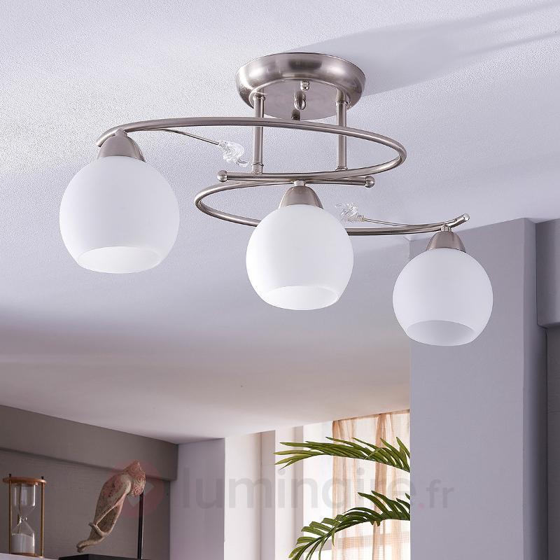 Svean - plafonnier à trois lampes - Plafonniers chromés/nickel/inox