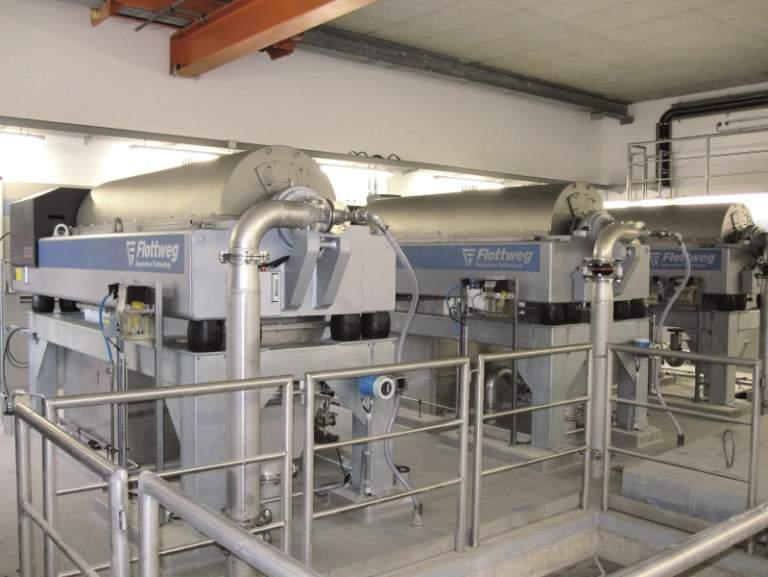 OSE Decanter - The OSE decanter centrifuge for Sludge Thickening in Sewage Treatment Plant