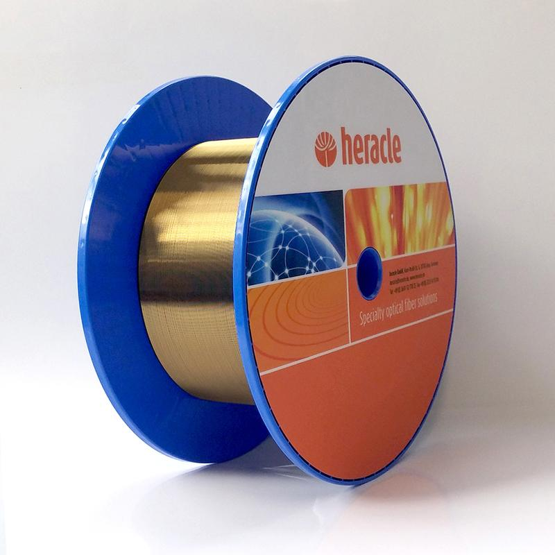 Gold coated step index fiber - High temperature application up to 700°C