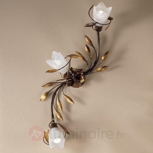 Plafonnier CAMPANA floral à 3 lampes - Plafonniers style florentin