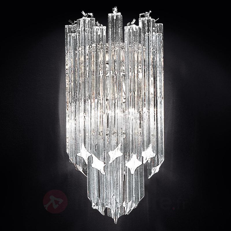 Applique en cristal Vortice à cadre chromé - Appliques en cristal