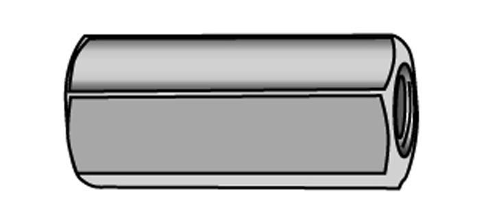 Gewindemuffen mit durchgehendem Innengewinde - Material A2 | A4