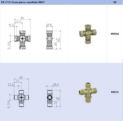 Manifolds DN 17 - CF-17.