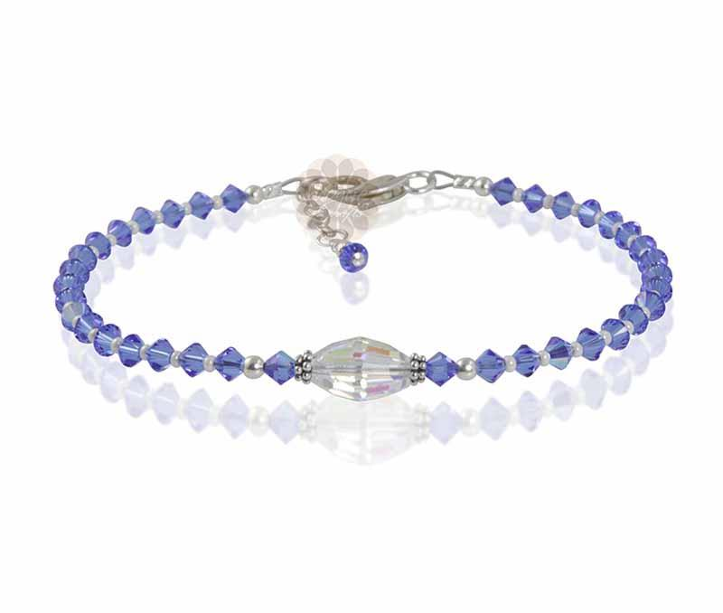 Purple Beads Anklet -