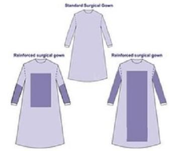 E0 Estéril SMS vestido quirúrgico - azul, 115 * 140cm, 120 * 150cm, 130 * 160cm, 140 * 160cm