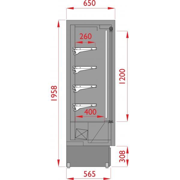 Vitrine murale BOF 150 Profondeur 60 cm portes coulissantes - VS60SLSY150ROUGE