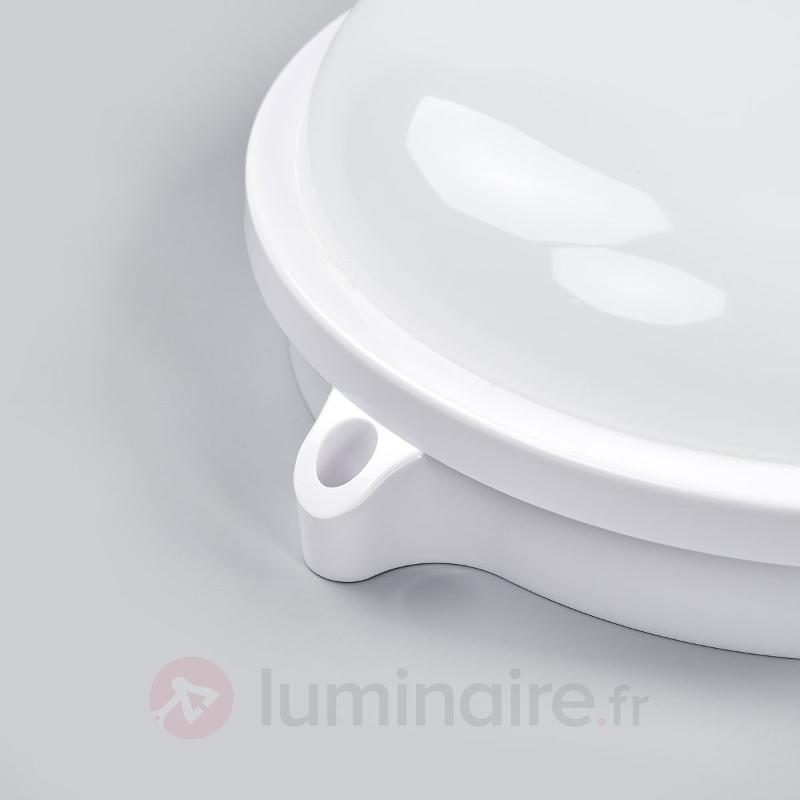 Lampe LED d'extérieur ronde Manda, blanche - Appliques d'extérieur LED