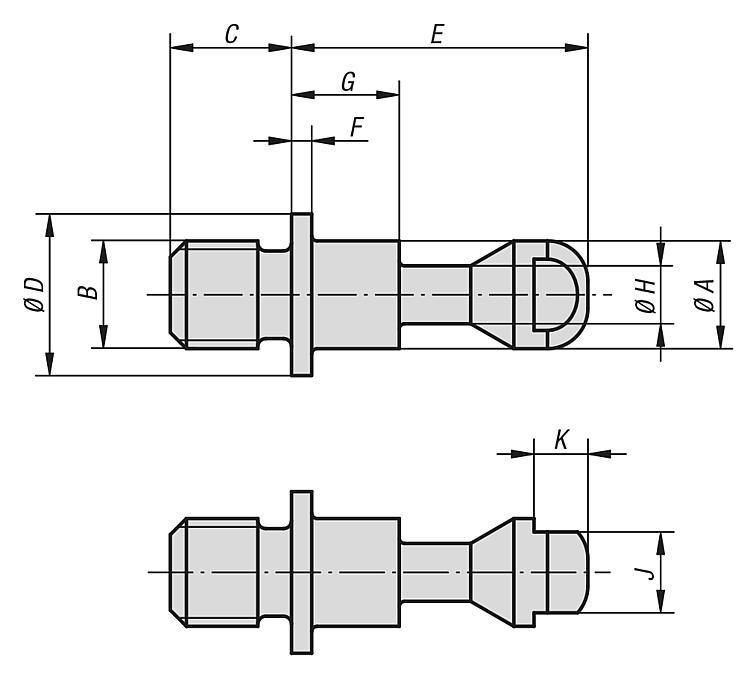 Vis de serrage modèle lourd - Crampons, mors de serrage, vis et écrous de serrage