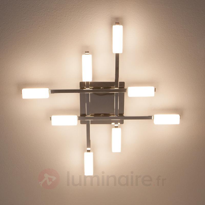 Plafonnier LED Lukretia à huit lampes - Plafonniers LED