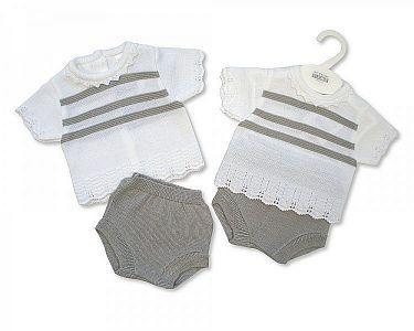 Spanish Style Knitted Baby 2 pcs Set -