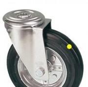 Roulettes pivotantes à oeil roue jante acier bandage antistatique - null