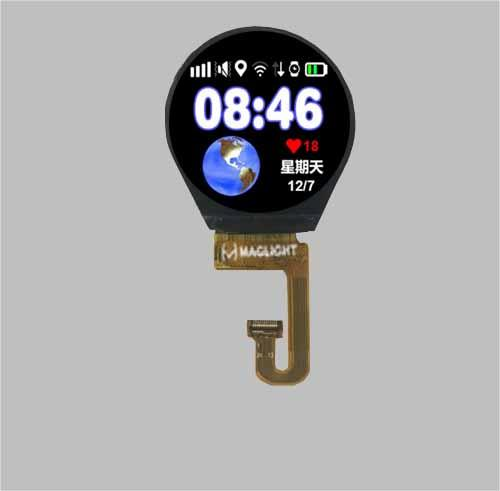 1.3 inch round tft lcd display screen - 240x240 pixels