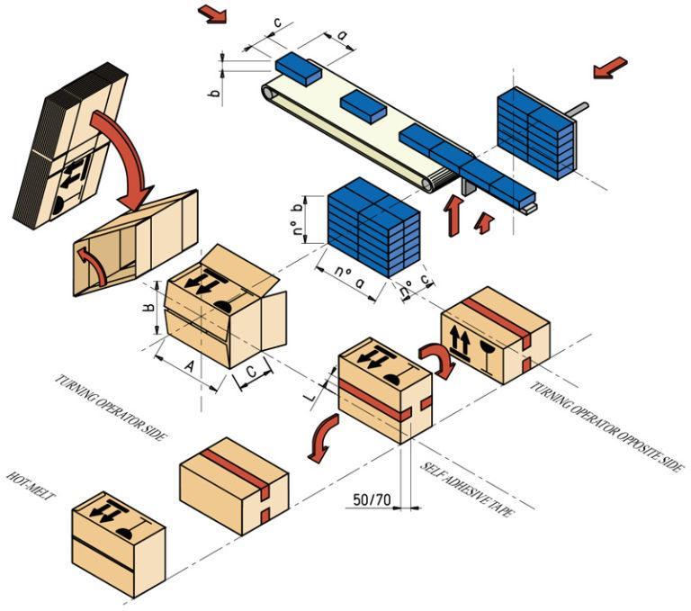 Case packing machine - CP18