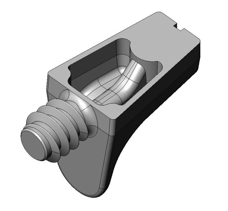 Bodenträger Kastenform - Zamak - 1 Zapfen, mit Gew.- Vernick - Bodenträger Zn 1 Zapfen