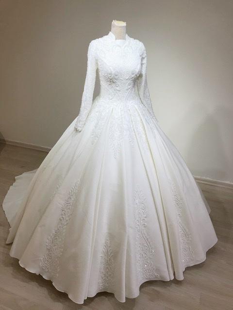 Robe De Mariée Robes De Mariée Pour Femme Voilée Atelier Robes D Asya Turquie