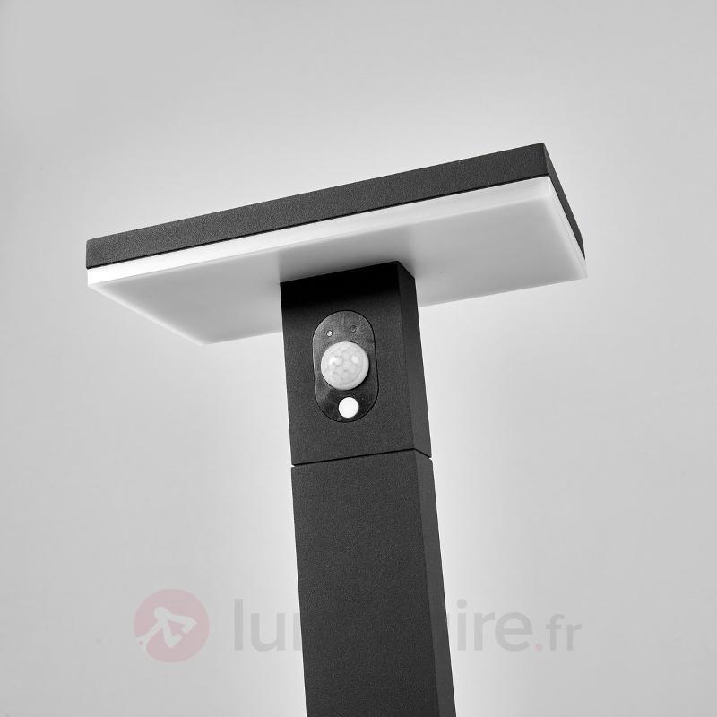 Borne lumineuse solaire Josa avec détecteur et LED - Lampes solaires avec détecteur