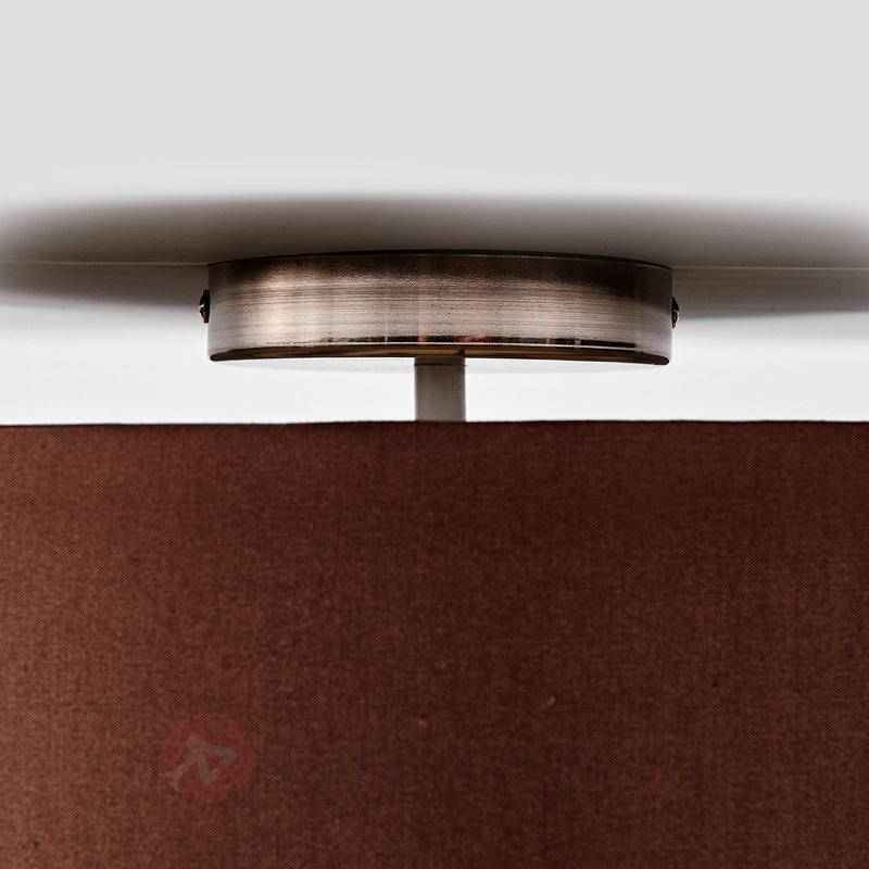 Élégant plafonnier Sebatin en brun clair - Plafonniers en tissu