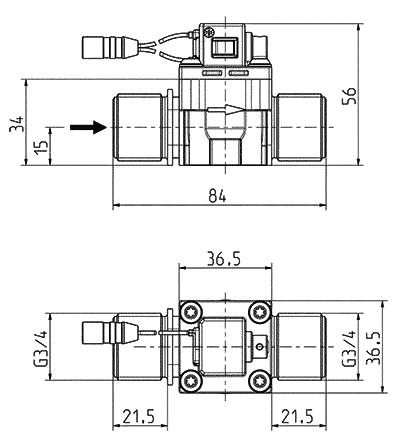 2/2-voies valve bistable, servo-commandée DN 13 - 50.013.806