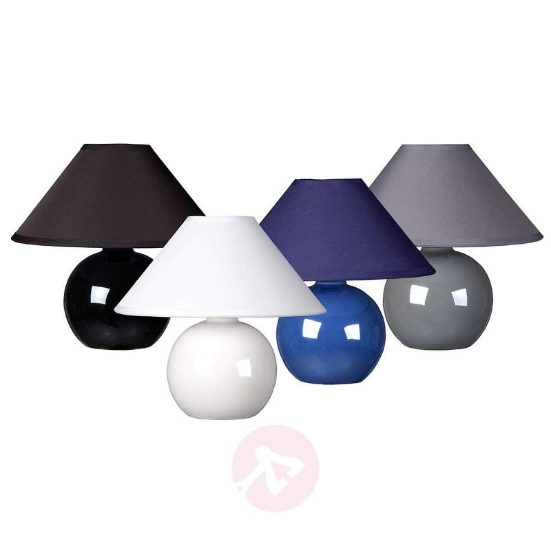 Black Faro table lamp with spherical base - Table Lamps