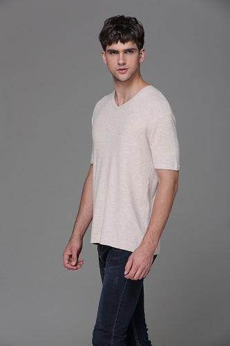 V-cuello de los hombres suéter de jacquard