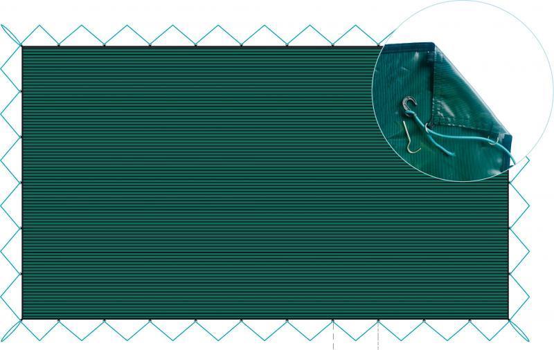 Filet d'hivernage vernosc pour piscine rectangulaire - vernosc7.7x4.2vert