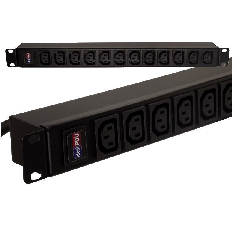 """PDU Multipresa rack  19"""" 1HE VDE Serie IEC 60320"""