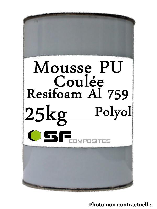 Résines polyurethanes - MOUSSE PU DE COULEE AL 759 25K