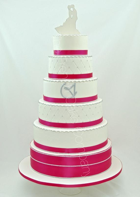 Gâteaux et Pièces Montées sur-mesure - Argent & Fuchsia