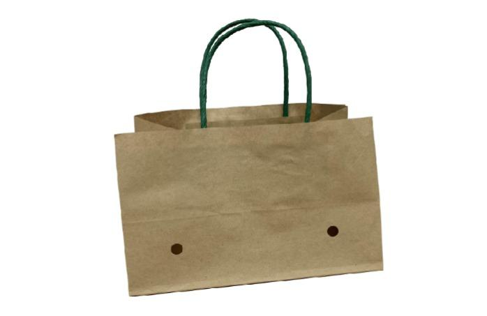 customized wet strength paper grape bags with ventilation - 100% Wet strength Brown Kraft Paper Grape Bags With Handle for 500-1000g grapes