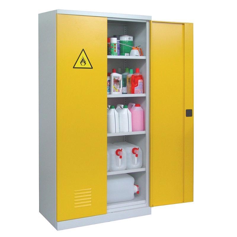 Armoire haute pour produits dangereux - Aménagement intérieur