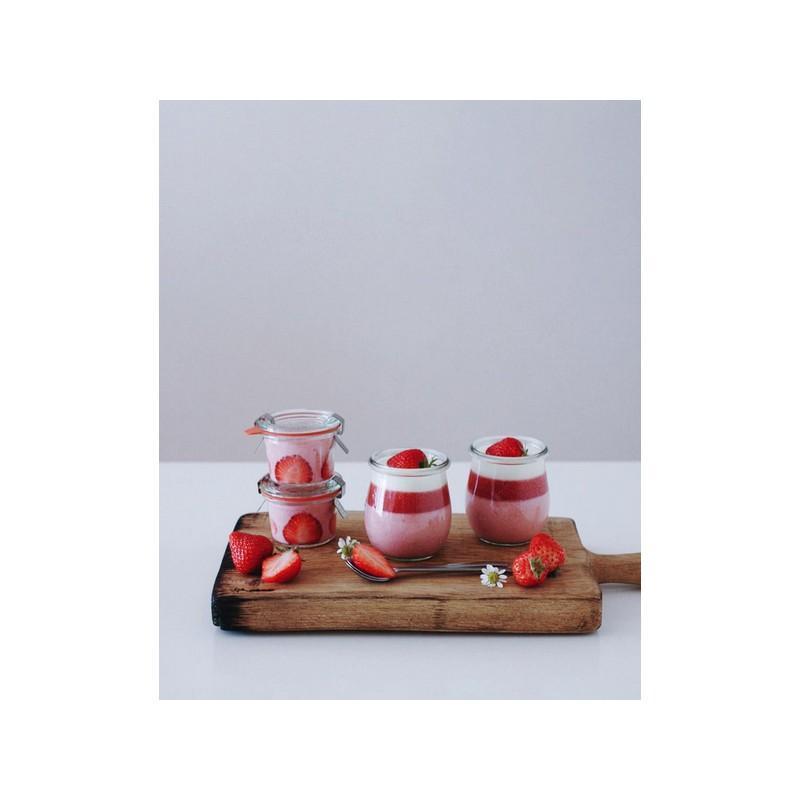 VASI WECK SENZA COPERCHIO - 6 vasetti di vetro Weck Corolle 200 ml senza coperchio e guarnizione (diam. 60