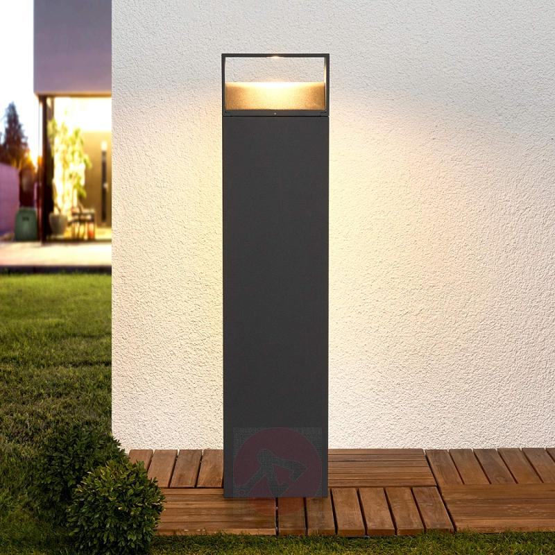 Dark Grey Kjella Led Bollard Light Outdoor Lights