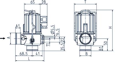 2/2-way drain valve NO, DN 40 IP 65, IP 68 - 04.040.916