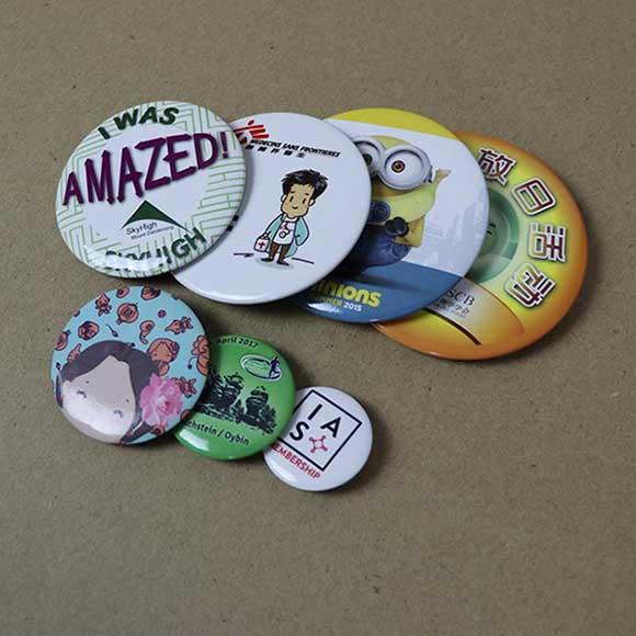 Button badges - Pin button badges printing